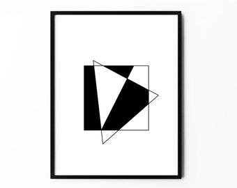 Triangle Art, Triangle Geometric, Triangle Print, Triangle Poster, Triangle Wall Art, Triangle Modern Art, Triangle Decor, Triangle Posters