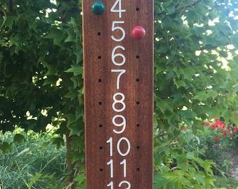 Large Bocce Scoreboard, 1-15