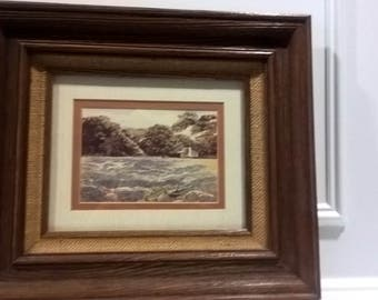 "Limted Edition 137/300 - ""Hill Country Hideaway"" - Signed B. Herd - Framed Lithography"