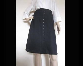 Vintage 70s A-line skirt high waist skirt S