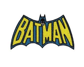 Batman Iron On Applique, Genuine DC Comics Iron On Patch, Batman Logo, Batman Applique, Batman Patch, Embroidered Patch, Superhero Applique
