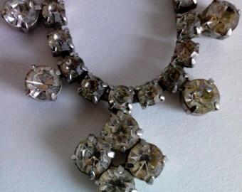 Vintage Glamor Rhinestone Necklace