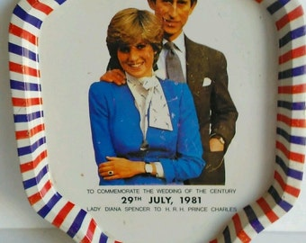 Princess Diana And Prince Charles Wedding Souvenir Tray