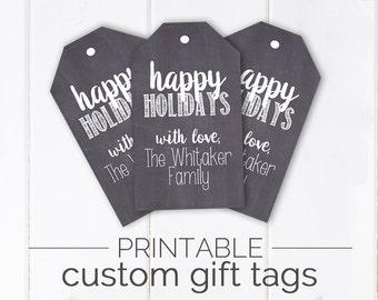 Customizable Chalkboard Gift Tags | Printable