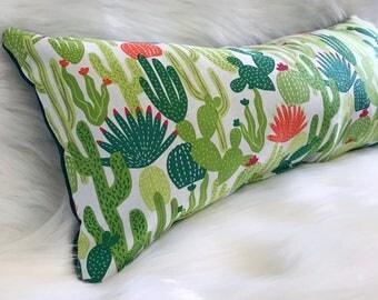 Cactus Cacti Green Modern| Throw Pillow