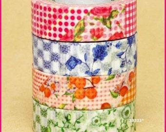 mt ex Masking Tape 4 Rolls Made In Japan Kawaii Washi Paper
