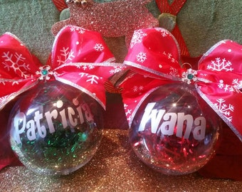 Customized BIG Bow christmas ornament, Christmas, ornaments, christmas tree.