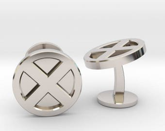X-Men Logo Cufflinks | Superhero Wedding Cuff links | Available as Sets