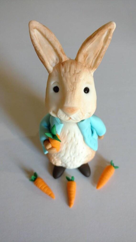 Peter Rabbit Birthday Cake Fondant Topper Edible Fondant