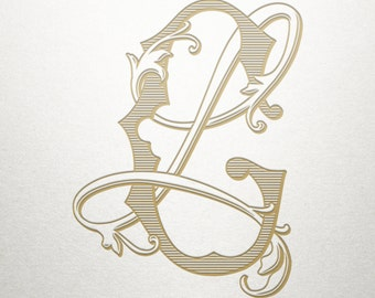 Interlocking Wedding Monogram - GL LG - Interlocking Monogram - Digital