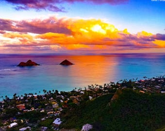 Sunset at Lanikai