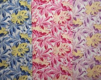 Century Florals by Wyndham Fabrics - Quarter Yard Bundle - 3 pieces