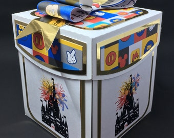 Disney themed Gift Card Exploding box or photo album box