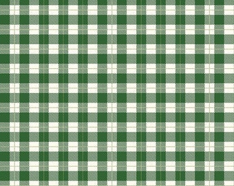 Green Gingham Cotton Fabric from the Comfort and Joy Collection by Dani Mogstad for Riley Blake, Christmas Fabric, Holly
