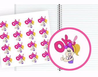 OK Stickers, Planner Stickers, Funny Stickers, Hand Drawn Stickers, Munchkins stickers, Kawaii Stickers, cute stickers, stickers planner