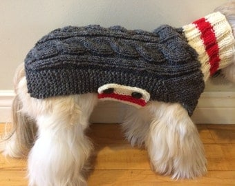 Small dog sweater, Shih Tzu sweater, poodle sweater, dog sweater, small dog coat, knitted dog sweater, small breed dog clothes,