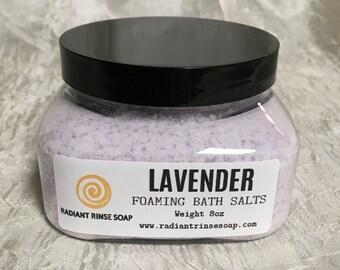 Lavender Foaming Bath Salts