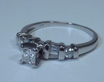 Platinum 1/2 ct. tw. Engagement Ring size 7
