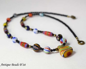 Colorful kifa beads necklace 【free shipping】【MB16040】
