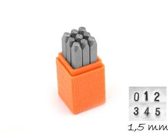 1 set numbers digits punch 1.5 mm Basic (sans serif) Impressart