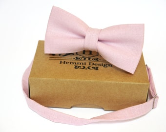 Blush Pink Bow Tie, Pocket Square, NeckTie / Boy's Bow Ties / Men's Bow Tie / Tie For Men / Suited Pocket Square Boy's / Groomsmen Pack