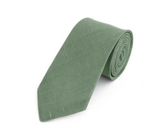 Sage Green Tie For Wedding / Tie For Groomsmen / Green Pocket Square With Necktie / Green Men's tie / Green Bow tie For Men