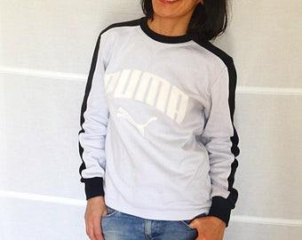Vintage Puma sweatshirt for men mens pullover size M Puma sweat grey cotton sweatshirt vintage 1980s Size mens M