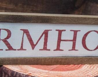 Farmhouse Wall Decor | Wood Sign | Farmhouse Wood Sign | Farmhouse Bedroom | Antique Farm Decor | Antique Rustic Decor | Framed Wood Sign