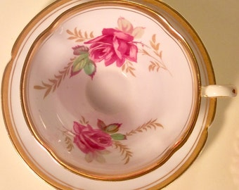 Pretty in Pink-Old Royal No 3158 Teacup and Saucer