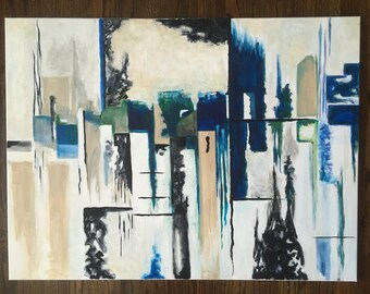 Large Abstract Canvas Painting (30x40)