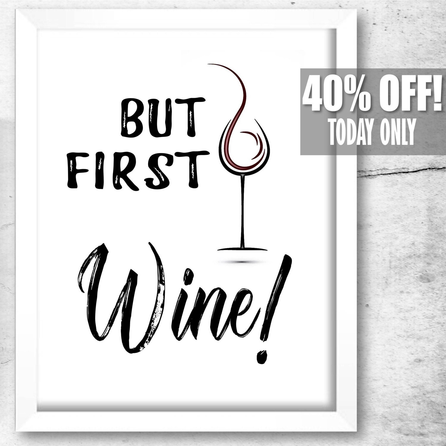 Kitchen Signs For Sale: But First Wine Funny Kitchen Signs Wine Gifts For Her Best
