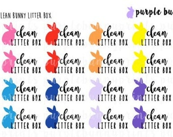 Clean Bunny Litter Box // Word Collection // Planner Stickers!