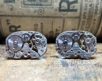 TITUS 15 Jewel Vintage Watch Movement Cufflinks
