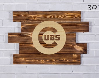Chicago Cubs Wood Sign Chicago Cubs Wall art Chicago Cubs Gift Chicago Cubs Birthday Chicago Cubs Party wooden
