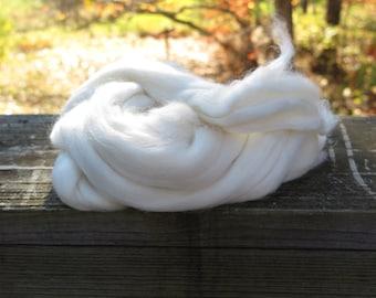 Undyed Merino/Silk Roving, natural roving