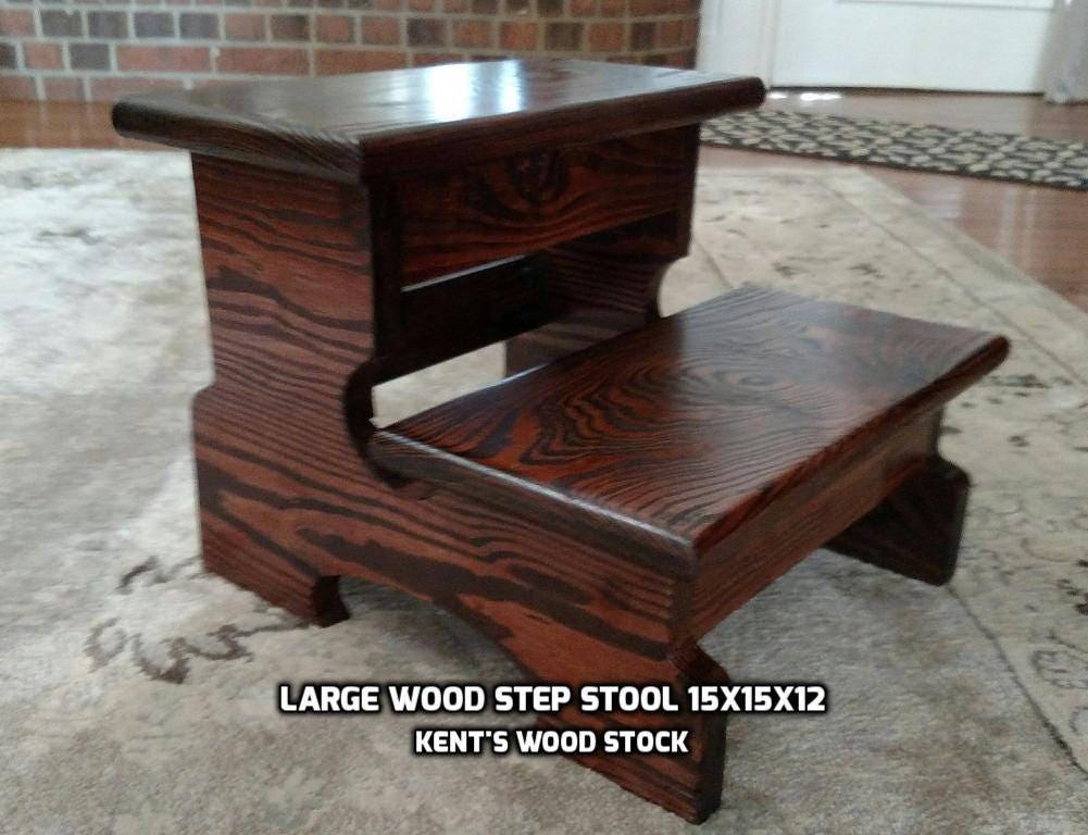 Large Wood Step Stool 15x15x12