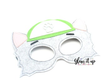 Paw Patrol Mask-Felt mask-Dress up-halloween mask-party mask-party favor-paw patrol costume-rocky mask