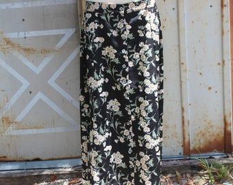 90's Daisy Grunge Maxi Skirt - L