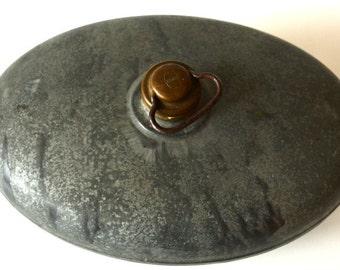 Vintage Hot zinc plated metal bed warmer prop 1930s Gartendeko vase catcher