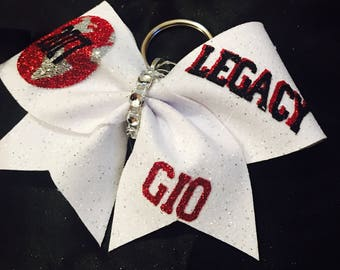 Worlds Cheer Bow Keychain