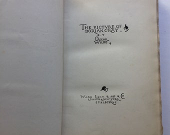 1891 - The Picture of Dorian Gray - Oscar Wilde - First Impression - VERY RARE
