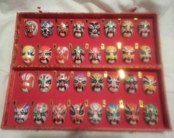 Chinese (Beijing ) Miniature  Opera Mask - Set of 32