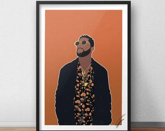 Tinie Tempah INSPIRED Print / Poster
