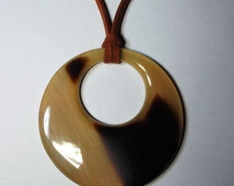 Horn pendant - Buffalo horn jewelry - Horn pendant necklace - KAI-5681