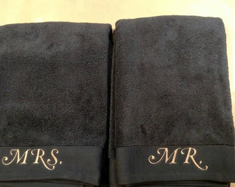 Mr &Mrs towel set