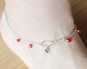 Ankle chain Ruby