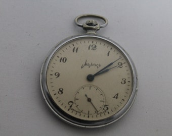 Vintage Russian pocket watch MOLNIA