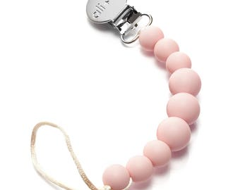 Silicone pacifier clip Baby Girl   Pacifier clip holder for baby girl