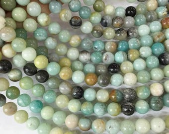 1Full Strand Amazonite Round Beads 6mm 8mm 10mm, Amazonite Gemstone For Jewelry Making