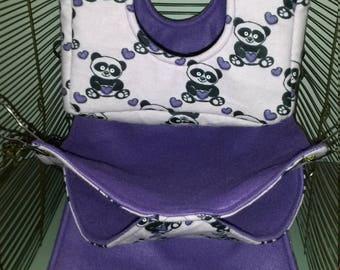 Purple Panda Rat Hammock Set